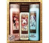 Bohemia Gifts & Cosmetics Alfons Mucha Šípky a ruže krémový sprchový gél 200 ml + med a obilia krémový sprchový gél 200 ml + aquaminerály toaletné mydlo 120 g, kozmetická sada
