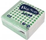 Big Soft Decor papírové ubrousky zelené 1 vrstvé 33 x 33 cm 50 kusů