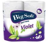 Big Soft Violet parfémovaný toaletní papír bílý 2 vrstvý 190 útržků 4 role