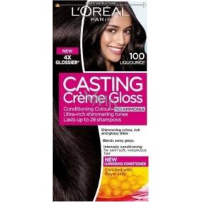 Loreal Paris Casting Creme Gloss Farba na vlasy 100 temne čierna
