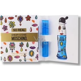 Moschino So Real Cheap and Chic toaletná voda pre ženy 1 ml s rozprašovačom, vialky