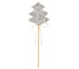 Stromček z filcu sivý zápich 6 cm + špajle