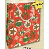 Nekupto Darčeková papierová taška vianočné M - WBM 1708 30