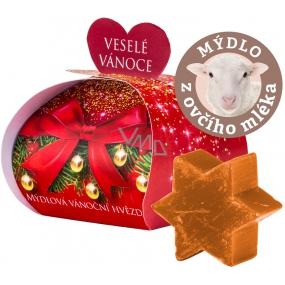 Moje Vianočná hviezda škorica darčekové mydlo z ovčieho mlieka 13 g