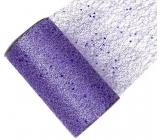 Stuha sieť s glittrem fialová 15 cm x 2,7 m