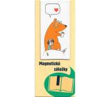 Albi Magnetická záložka do knižky Dievčatko s medveďom 8,7 x 4,4 cm