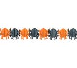 Girlanda Halloween pavúk oranžová, čierna 400 x 17 cm
