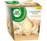Air Wick Essential Oils Infusion Vanilla & Brown Sugar vonná svíčka ve skle 105 g