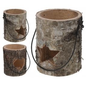 Lucerna drevo guľatá 130 mm