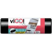 VIGO! Vrecia na odpad čierne 35 litrov 50 x 60 cm 15 kusov