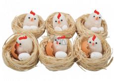 Hniezda s kuriatkom a vajciami 5,5 cm 1 kus náhodný výber