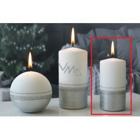 Lima Aróma línia sviečka strieborná valec 50 x 100 mm 1 kus