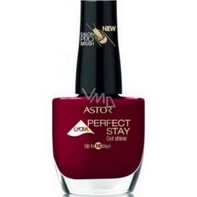 Astor Perfect Stay Gel Shine 3v1 lak na nehty 313 Intense Ruby 12 ml