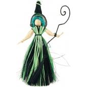 Čarodejnica s modrými vlasmi 20 cm
