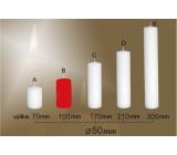 Lima Svíčka hladká červená válec 50 x 100 mm 1 kus