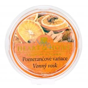 Heart & Home Pomarančové variácie Sójový prírodný voňavý vosk 27 g