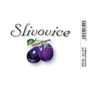 Arch Samolepka Slivovice velká etiketa 8,5 x 5,5 cm 3519 1 kus