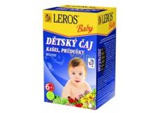 Leros Baby Kašeľ, priedušky bylinný čaj pre deti 20 x 1,5 g