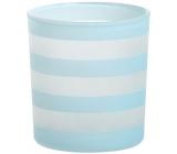 Yankee Candle Coastal Stripe svietnik na votívny sviečku modrý 8 x 7 cm