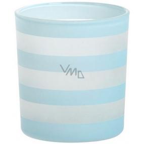Yankee Candle Coastal Stripe svícen modrý na votivní svíčku 8 x 7 cm