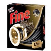 Well Done Fine Black Guard obrúsky do prania pre obnovu čiernej farby 12 kusov