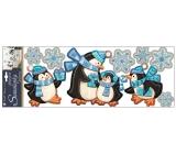 Samolepky plastické tučniaky 57 x 20 cm