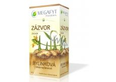 Megafyt Bylinková lekáreň Zázvor bylinný čaj napomáha k tráveniu, dýchanie a duševnej pohode 20 x 1,5 g