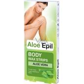 Aloe Epil Body depilačné voskové pásky na telo 16 + 2 kusov
