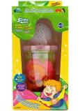 Joker Slimy Sliz sa svietiace a hracie guličkou ružový 140 g