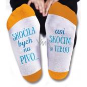Nekupto Rodinné darčeky s humorom Ponožky Skočila by som na pivo, veľkosť 43-46