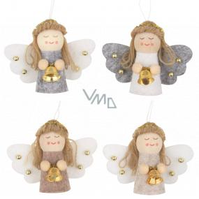 Anjel so zvončekom závesný rôzne farby 5,5 cm 1 kus