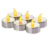 Emos Sviečky LED svietiaci jantárovej, 3,8 cm, 6 kusov strieborné