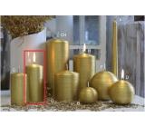 Lima Alfa svíčka zlatá válec 60 x 120 mm 1 kus