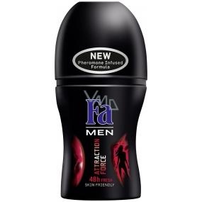 Fa Men Attraction Force kuličkový deodorant roll-on pro muže 50 ml