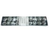 Rolničky stříbrné 2 cm v krabičce 20 ks