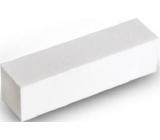 Pilník na nehty 4 stranný blok bílý 9,5 x 2,5 x 2,5 cm 5312