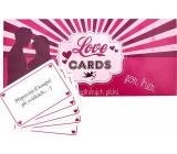 Bohemia Gifts & Cosmetics Love Cards karty splněných přání pro dámy 20 kusů karet