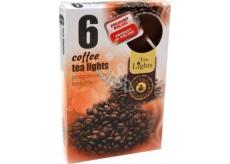 Tea Lights Coffee s vôňou kávy vonné čajové sviečky 6 kusov