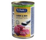 Dr. Clauders Jahňacie mäso s ryžou kompletné superprémiové krmivo pre dospelé ps 92% mäsa 400 g