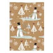 Ditipo Vánoční balicí papír For Future sněhuláci typ 1 100 x 70 cm 2051912 2 kusy
