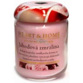 Heart & Home Jahodová zmrzlina Sójová vonná sviečka strednej horí až 30 hodín 110 g