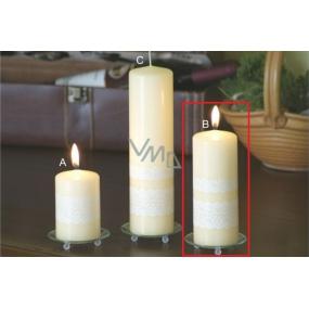 Lima Čipka sviečka creme valec 60 x 150 mm 1 kus