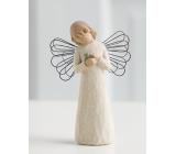 Willow Tree - Anjel uzdravenie - Všetkým, ktorí prinášajú útechu a starostlivosť. Figúrka anjela Willow Tree, výška 12,5 cm.