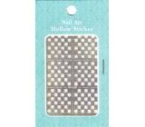Nail Accessory Hollow Sticker šablónky na nechty multifarebné štvorčeky 1 aršík 129