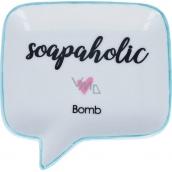 Bomb Cosmetics Soapaholic Soap Dish Keramická miska na mydlo 12,5 x 12,5 cm
