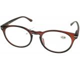 Berkeley Čítacie dioptrické okuliare +2,5 plast hnedé, okrúhle sklá 1 kus MC2171