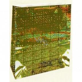 Nekupto Darčeková papierová taška hologram standart 23 x 18 x 10 cm Zlatá THM