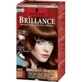 Schwarzkopf Brillance Color Creme farba na vlasy 892 horúci červený karamel 50 ml