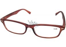 Berkeley Čtecí dioptrické brýle +2,5 hnědé mat 1 kus MC2 ER4040