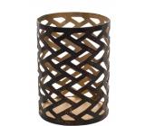Woodwick Herringbone svietnik na vonnú sviečku Petite 68 x 95 mm